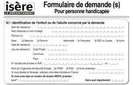 Dossier de demande pour Personne Handicapée